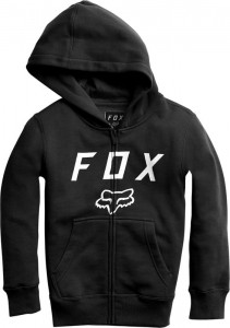 BLUZA FOX JUNIOR Z KAPTUREM NA ZAMEK LEGACY MOTH BLACK