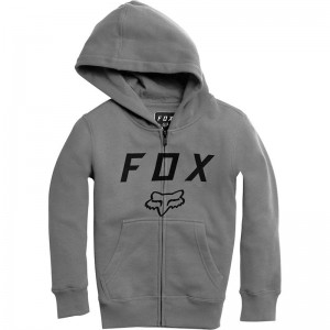 BLUZA FOX JUNIOR Z KAPTUREM NA ZAMEK LEGACY MOTH HEATHER GRAPHITE