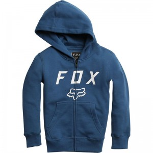 BLUZA FOX JUNIOR Z KAPTUREM NA ZAMEK LEGACY MOTH DUSTY BLUE