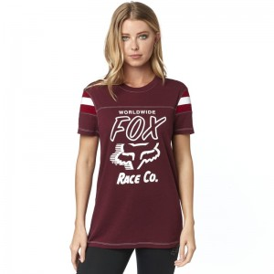 T-SHIRT FOX LADY RALLY POINT CRANBERRY