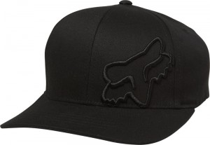 CZAPKA Z DASZKIEM FOX JUNIOR BOYS FLEX 45 FLEXFIT BLACK MX20