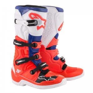 ALPINESTARS BUTY TECH5 RED/FLO/BL/WH